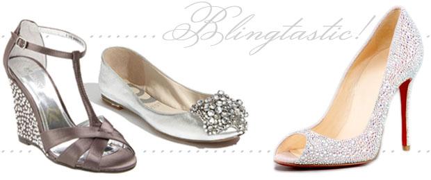 Wedding Shoe Trend Bling