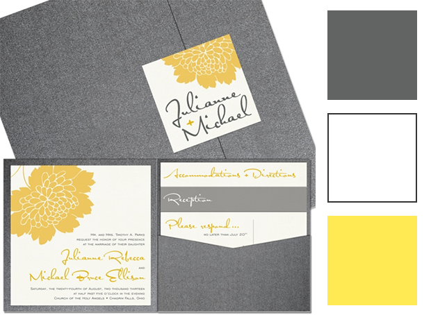 Yellow and Gray Wedding Color Palette | The Green Kangaroo