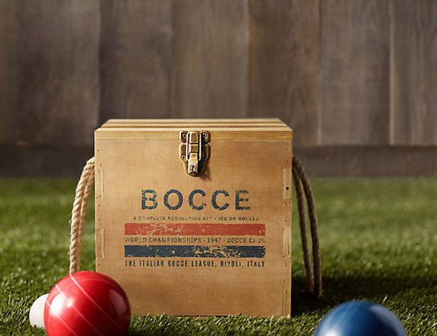 groomsmen gift: bocce set