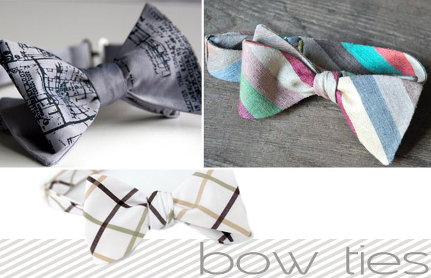 bow ties - mens wedding day attire