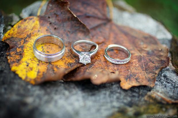 Kasey + Adam's wedding rings