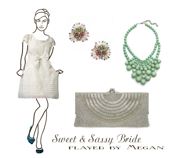 mad men styled bride