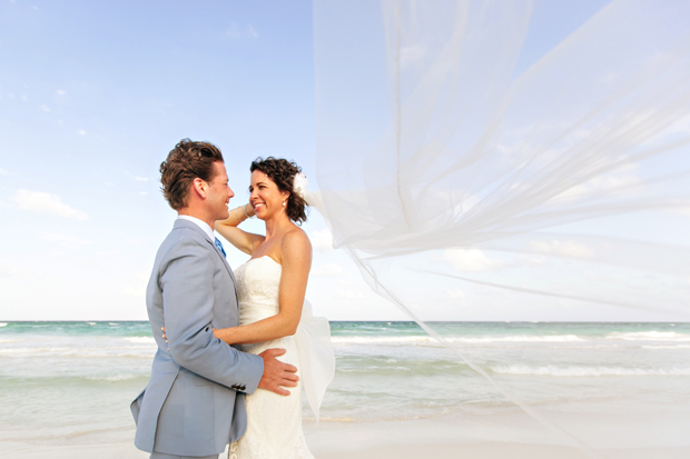 Brita + John married on the beach in Tulum, MX