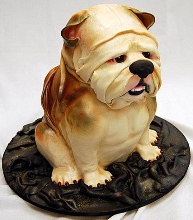 bulldog grooms cake