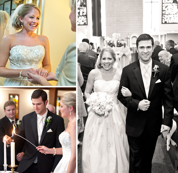Before, during and after the ceremony