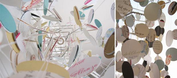 paper chandelier views