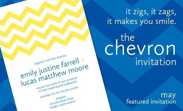 May Featured Wedding Invitation- The Chevron