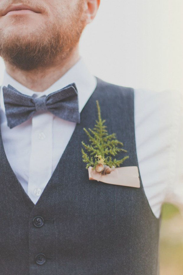winter wedding: holiday boutonniere