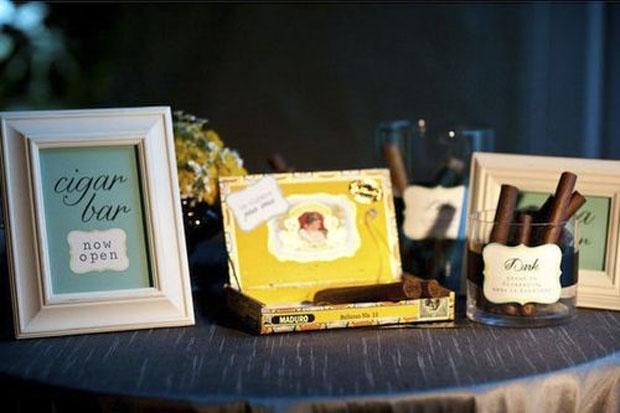 Celebratory Cigar Stations - American Wedding Wisdom