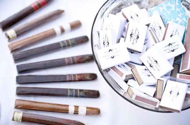 groom trend: cigar station