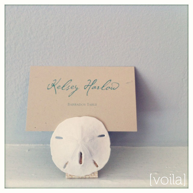 coastal couture table stationery how to diy project - place card holder
