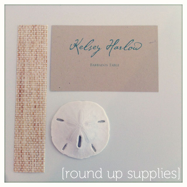 coastal couture table stationery how to diy project - place card holders