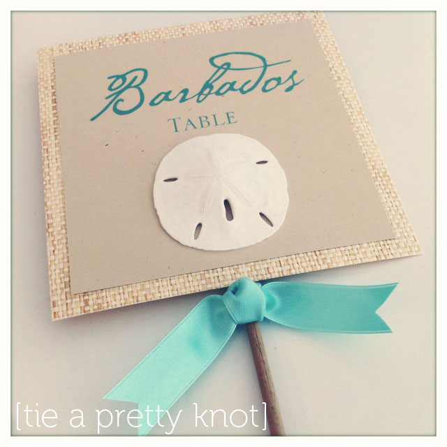 coastal couture table stationery how to diy project - table cards