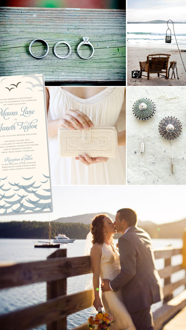 wedding day inspiration - coastal vintage, beach, shore
