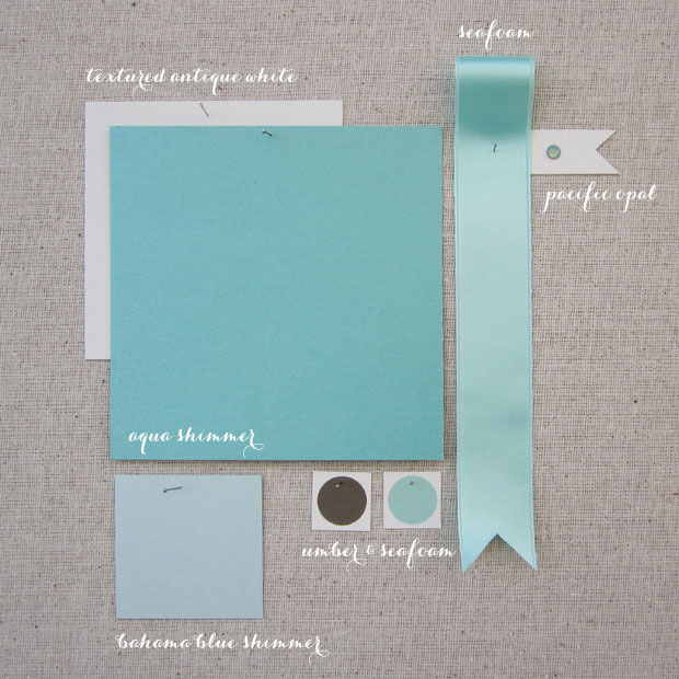 color love: shades of aqua  |  color inspiration for your wedding stationery!