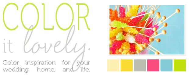 color inspiration: rock candy hues