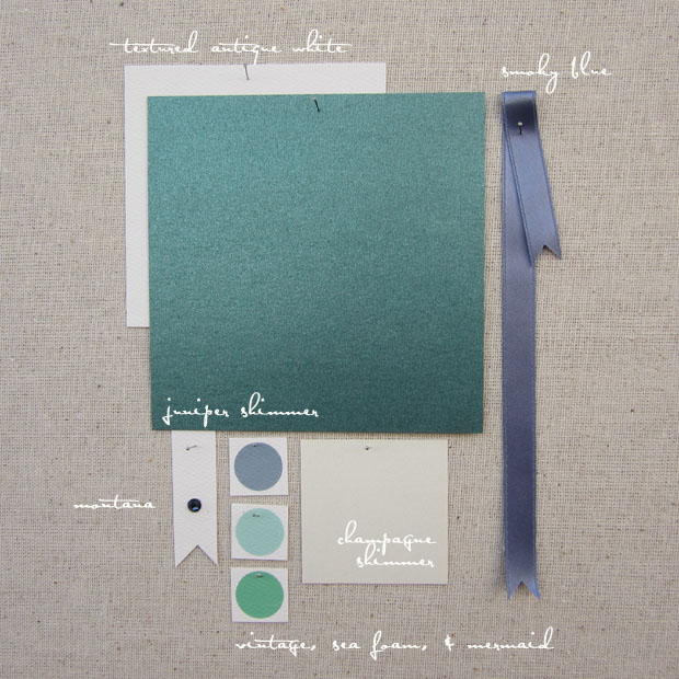 wedding color inspiration: blues and greens