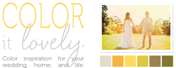 color it lovely: sunny hues