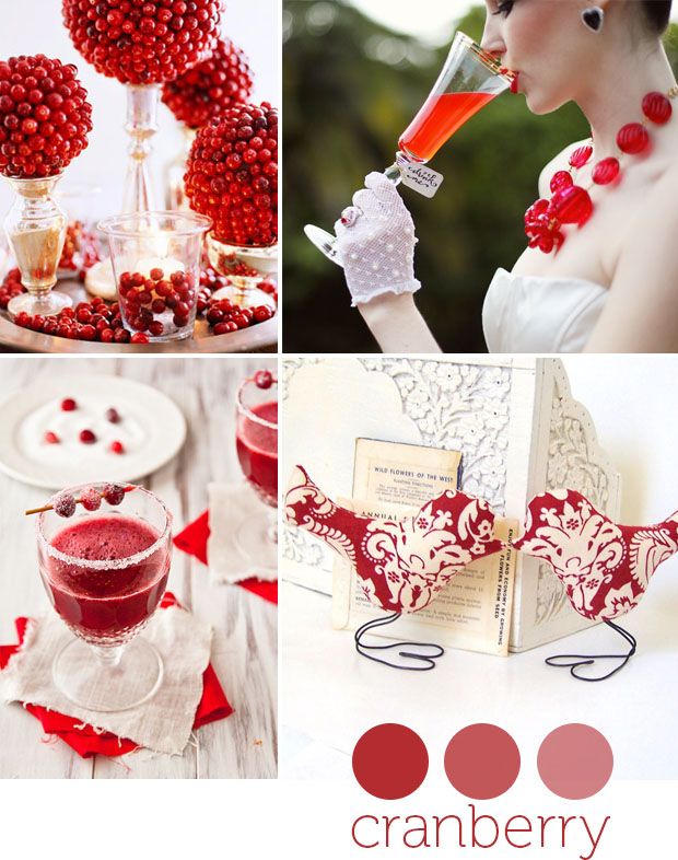 color: cranberry - wedding day inspiration