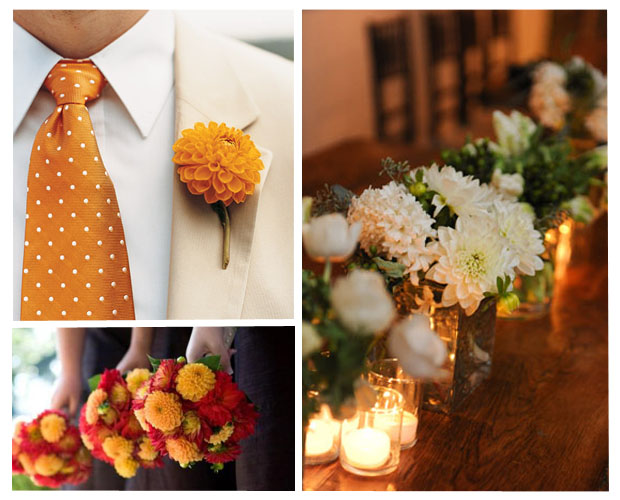 Uses for Dahlias in a Wedding