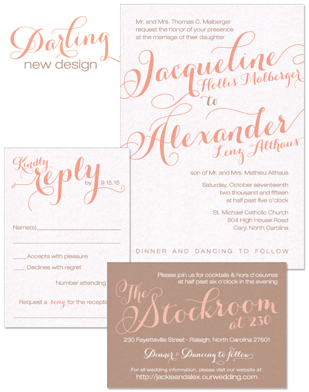Darling Wedding Invitation