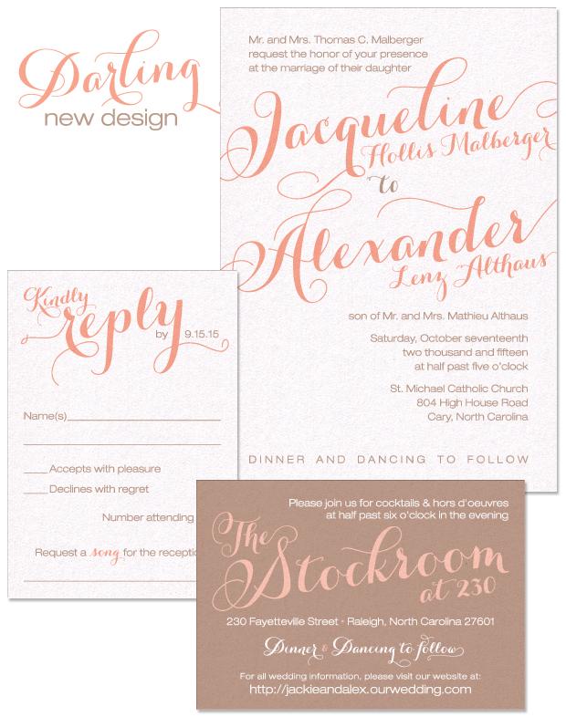 Darling Wedding Invitation