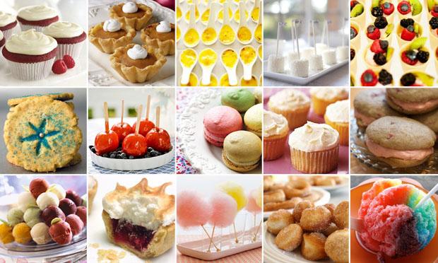 A smörgåsbord of desserts