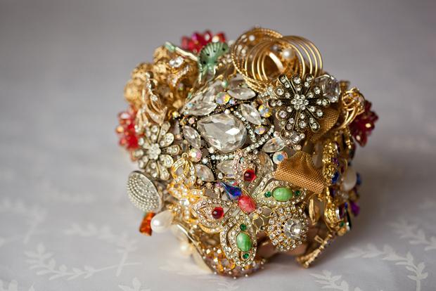 Amy's handmade brooch bouquet