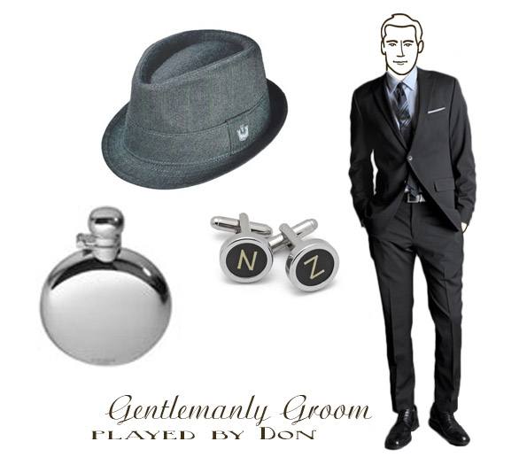 mad men styled groom
