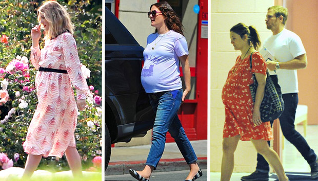 Drew Barrymore's super casual maternity style