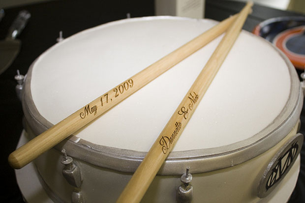 drum groom's cake
