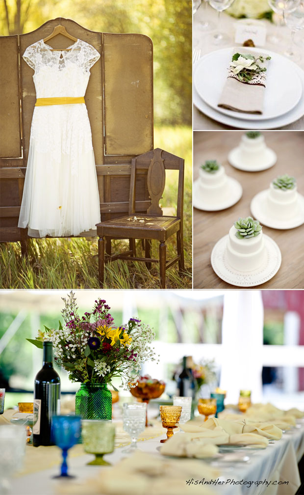 stylish eco-friendly wedding inspiration