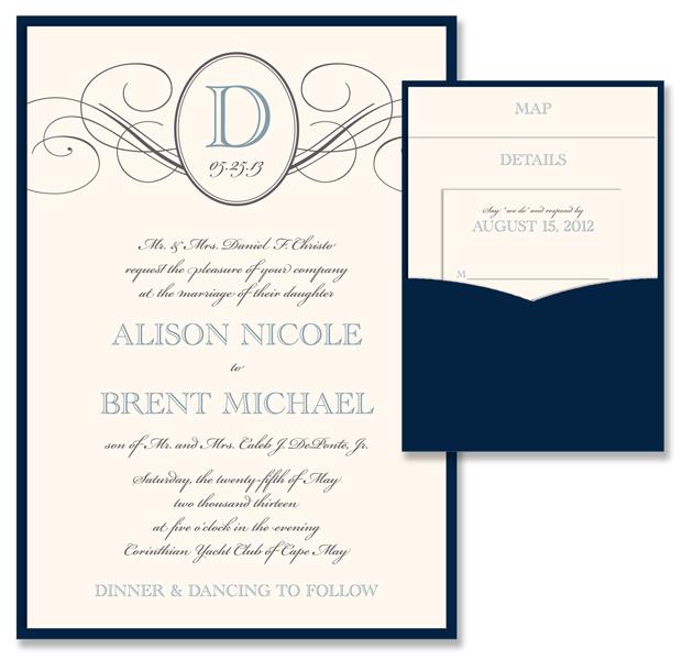 Elegance Traditional Clutch Invitation