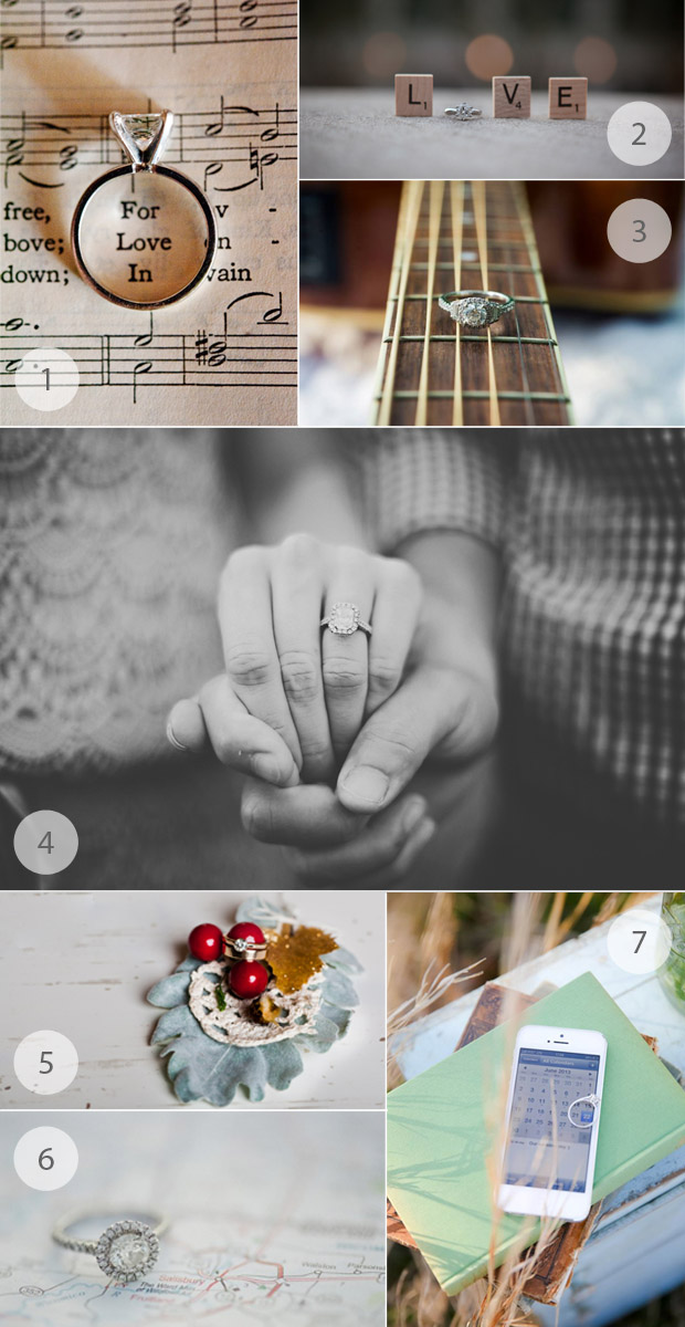 engagement ring photographs