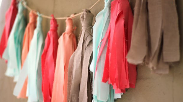 diy fabric tassel wedding decor