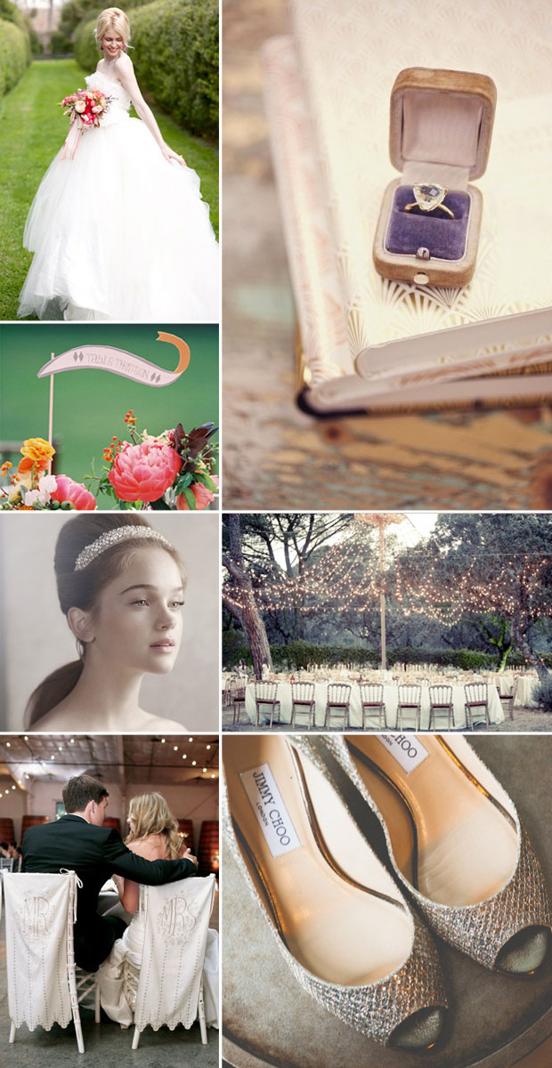soft fairytale wedding theme | inspiration board