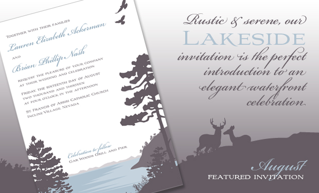 August Featured Design- The Lakeside Wedding Invitation