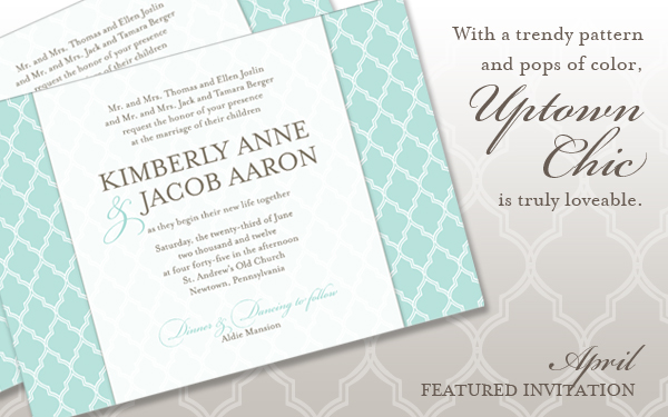 Uptown Chic - TGK's April Featured Invitation
