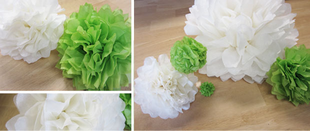 finished tissue paper flowers
