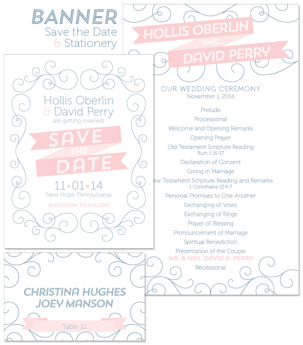 Banner Save the Date and Stationery