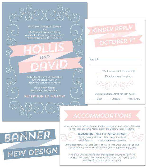 Banner Wedding Invitation