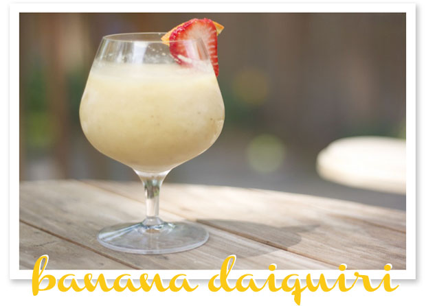 stir it up: frozen banana daiquiri