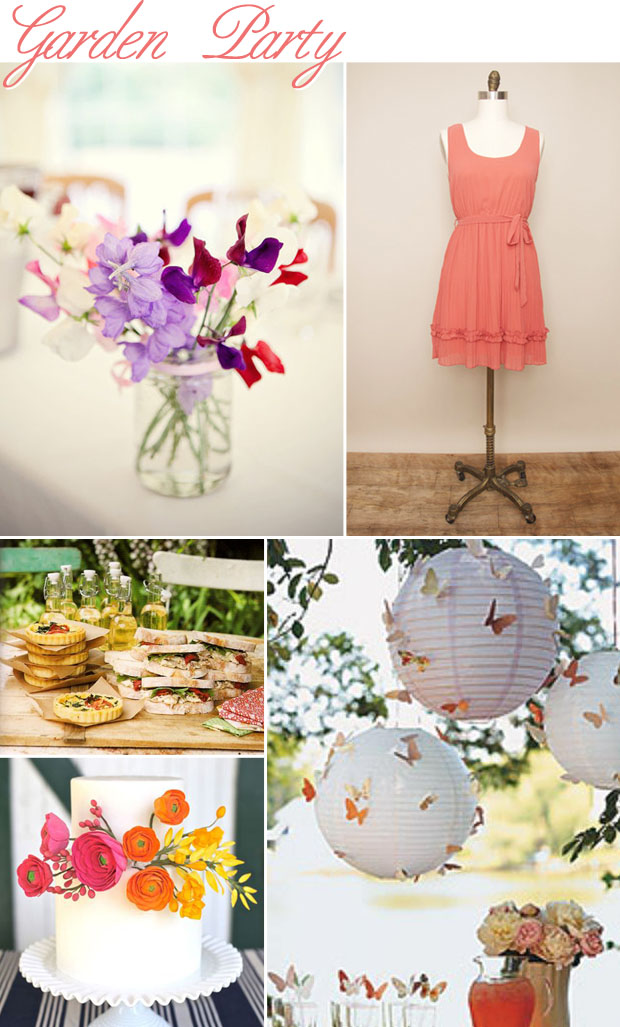 garden party wedding inspiration board