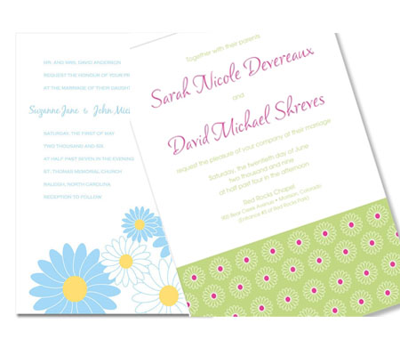Check out TGK 39s Daisy Invitation as well as the Mod Daisy Invitation