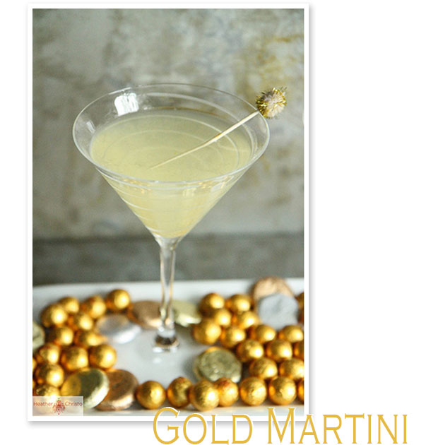 gold martini olympic medal cocktail