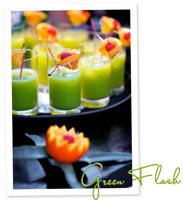 signature cocktail: green flash