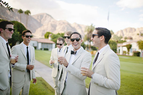 gatsby inspired groom and groomsmen suits and ties