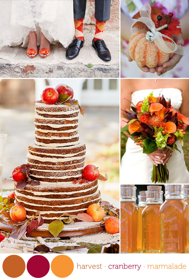 color: harvest time -- fall wedding colors inspiration board