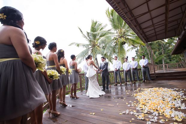 Christina and Andy with their wedding party