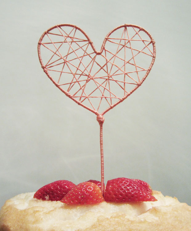 how to string heart cake topper american wedding wisdom